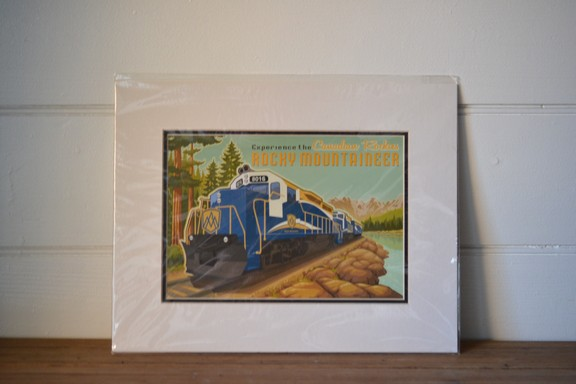 Vintage Rocky Mountaineer Train Print Jode Thompson rocky mountains print3
