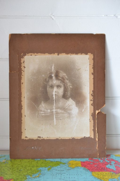 Antique photograph little girl by F. B. Mendelssohn & Co. Melbourne