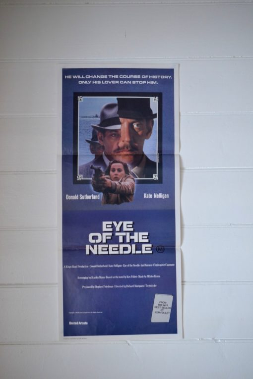 Vintage daybill poster Eye of the Needle Donald Sutherland Printed by W&B litho