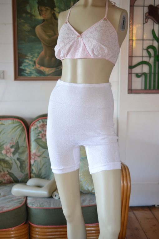 Vintage Women's white Lingerie knitted underpants Valknit reg size 10-12
