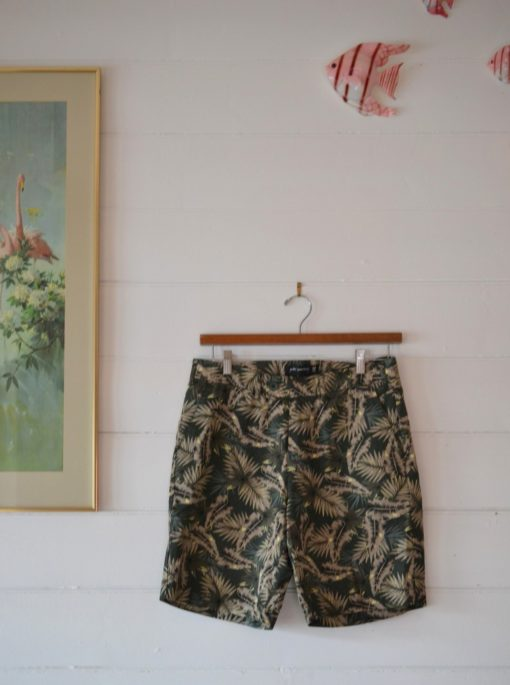 Mens  Peter Morrisey tropical palm tree shorts size 32