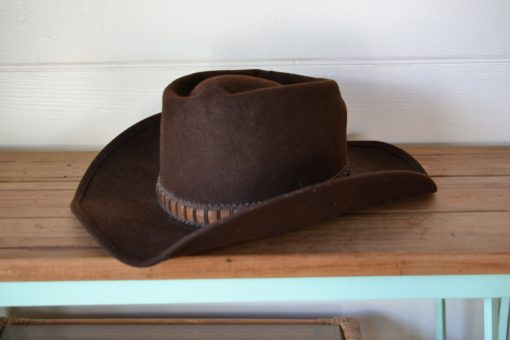 Vintage men's original cowboy hat wool Eddy Bros Coburn