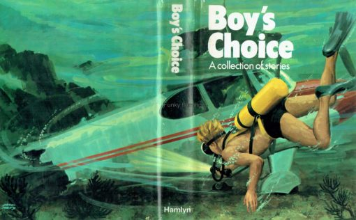 Boys Choice Book Vintage Book Cover Plane Scuba Diving
