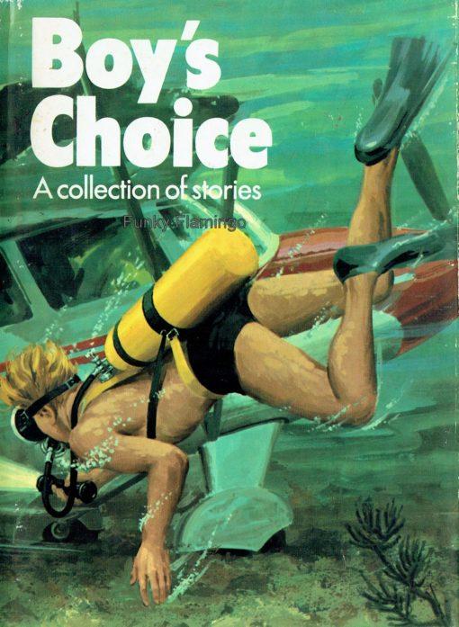 Boys Choice Book Vintage Book Cover Plane Scuba Diving