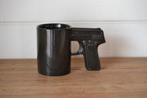 Vintage ceramic gun mug