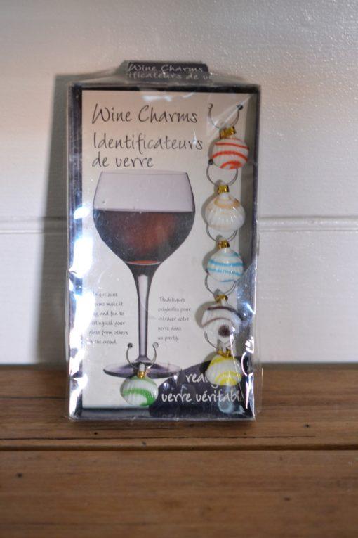 Wine charms indentifcateurs de verre sea shells