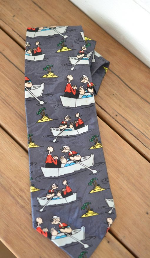 Vintage men's tie Australian made Popeye 1997 King Features Syndicate