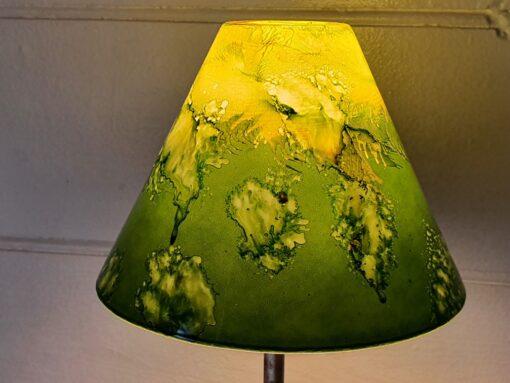 Vintage Art glass lamp shade pendant shade green hand made